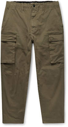 Alex Mill City Cropped Cotton-Blend Twill Cargo Trousers - Men - Green