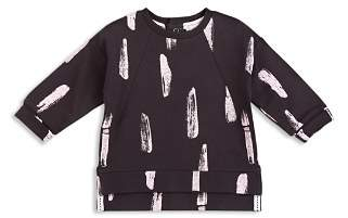 Miles Baby Girls' French Terry Paint Stroke Top - Baby