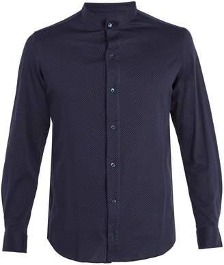 Giorgio Armani Grandad-collar cotton shirt