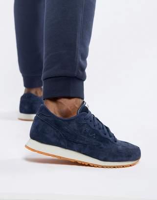 Fila euro jogger ii sneaker in navy suede