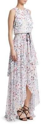 ML Monique Lhuillier Sleeveless Hi-Lo Gown