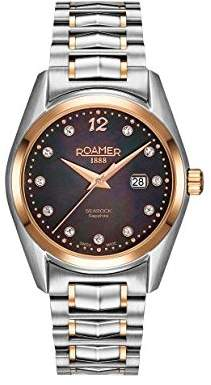 Mother of Pearl Roamer Women's Quartz Watch with Dial Analogue Display and Two Tone Stainless Steel Bracelet 203844 49 59 20