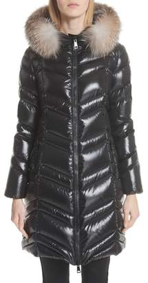 ... Moncler Fulmar Hooded Down Puffer Coat with Removable Genuine Fox Fur Trim