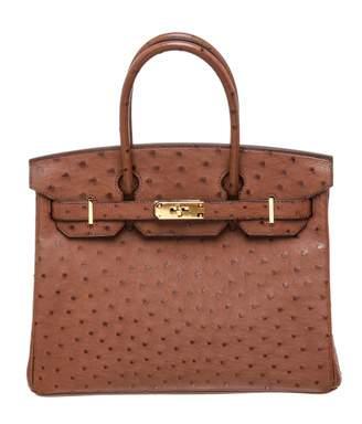 Hermes Birkin 30 ostrich handbag