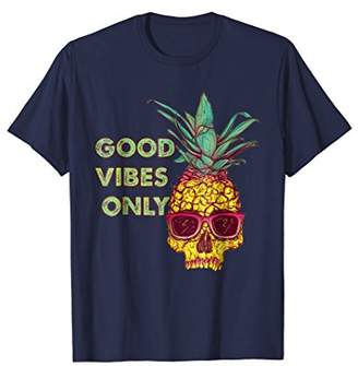 Good Vibes Only Vintage Skull Sunglass T-Shirt