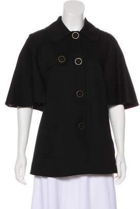 Trina Turk Cape-Accented Double-Breasted Jacket