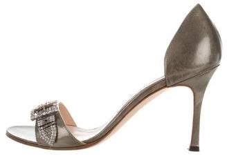 Manolo Blahnik Embellished D'Orsay Sandals