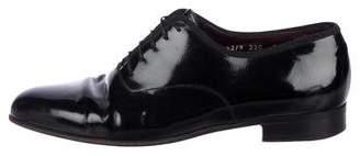 Salvatore Ferragamo Patent-Leather Lace-Up Oxfords