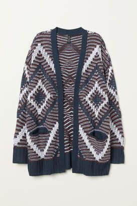 H&M Jacquard-knit Cardigan - Red