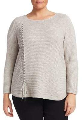 Nic+Zoe Plus Plus Braided Up Sweater