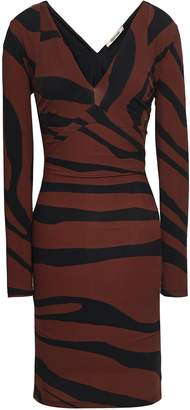 Roberto Cavalli Zebra-print Stretch-jersey Mini Dress