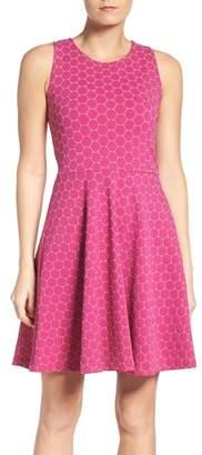 Leota Ava Polka Dot Print Dress $168 thestylecure.com