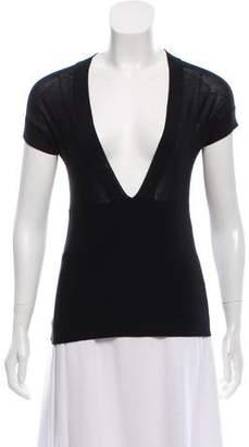 Akris Silk Short Sleeve Top