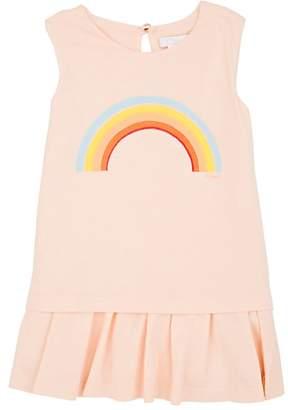 Chloé KIDS' RAINBOW-PRINT COTTON-BLEND DROP-WAIST DRESS
