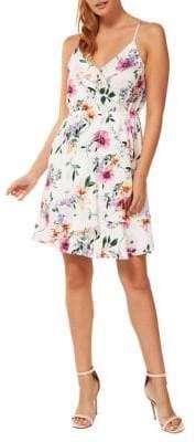 Dex Floral Wrap Dress