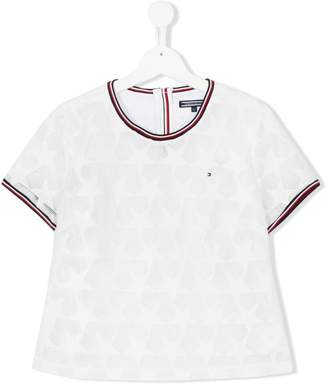 6073b75e Tommy Hilfiger Junior TEEN mesh star T-shirt