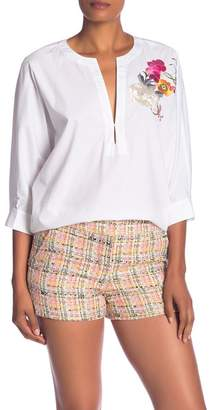 Trina Turk Triana Floral Embroidered Blouse