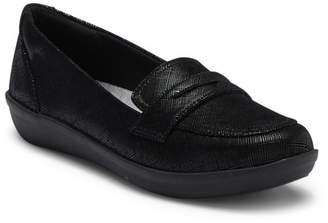 Clarks Ayla Suede Penny Loafer - Wide Width Available