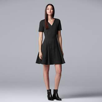 51ad042aad4 Vera Wang Women s Simply Vera Embroidered Fit   Flare Dress