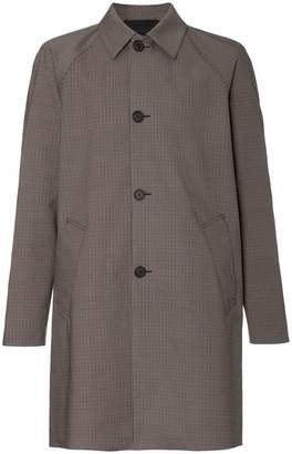 Prada Check cotton mac