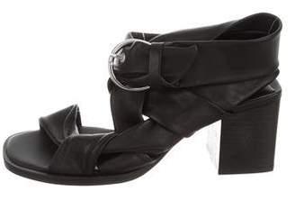 AllSaints Square-Toe Mid-Heel Sandals