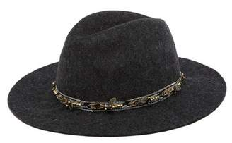 Melrose and Market Beaded Wool Felt Panama Hat