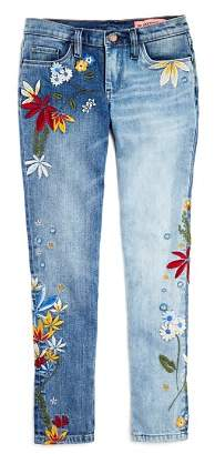 Blank NYC BLANKNYC Girls' Floral-Embroidered Skinny Jeans - Little Kid