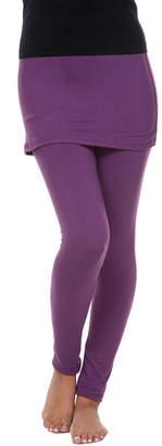 WHITE MARK White Mark Skirted Womens Mid Rise Legging