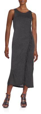 Fringed Jersey Midi Dress $79 thestylecure.com