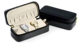 Bey-Berk Leather Zippered Watch Case