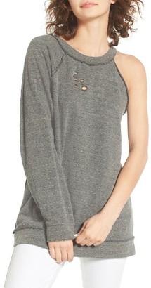 Women's Treasure & Bond One-Sleeve Sweatshirt $69 thestylecure.com