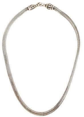 Lagos Caviar Snake Link Necklace silver Caviar Snake Link Necklace