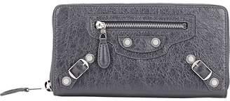 Balenciaga Women's Arena Leather Giant Continental Wallet
