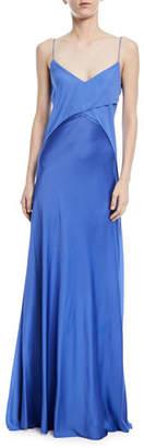 Ralph Lauren Myles Satin Georgette Gown