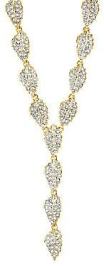 Kenneth Jay Lane Crystal Leaf Y-Necklace