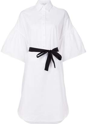 Tome flared sleeves shirt dress