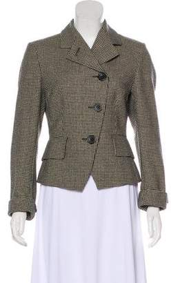 Dries Van Noten Wool Houndstooth Blazer