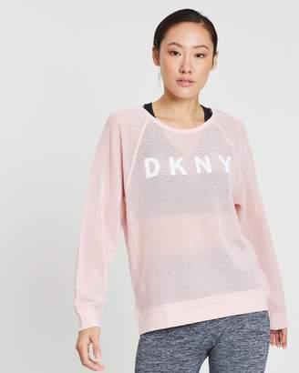 DKNY Long Sleeve Raglan Tee