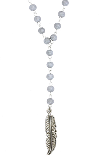 Ettika Feather Rosary Chain