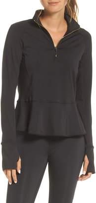 Kate Spade peplum half-zip pullover
