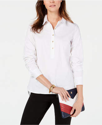 Tommy Hilfiger Buttoned Pullover Top, Created for Macy's