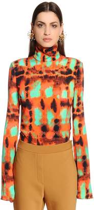 Ellery Printed Silk Faille Top