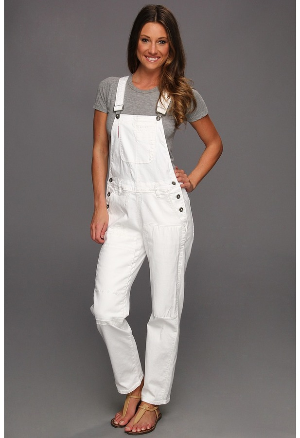 !iT Collective - Overalls in White Repaired (White Repaired) - Apparel