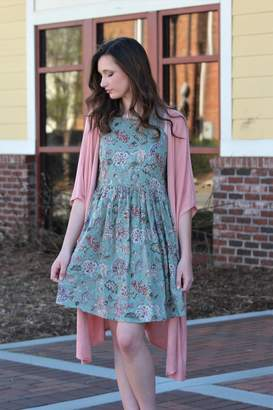 Wishlist Floral Keyhole Back Swing Dress