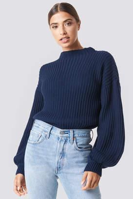NA-KD Na Kd Balloon Sleeve Knitted Sweater