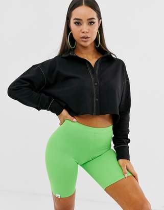 Public Desire crop sweatshirt with contrast stitching
