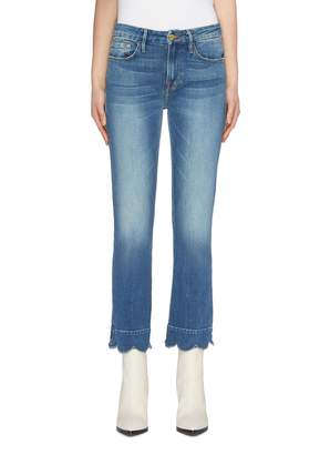 Frame 'Le Crop Mini Boot' scalloped cuff jeans