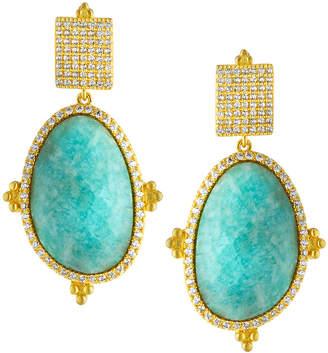 Freida Rothman Amazonian Allure Oval Drop Earrings