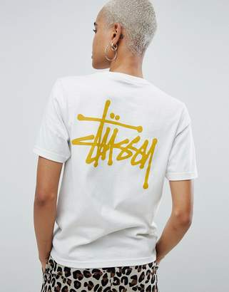 Stussy Relaxed Fit T-Shirt With Logo Front