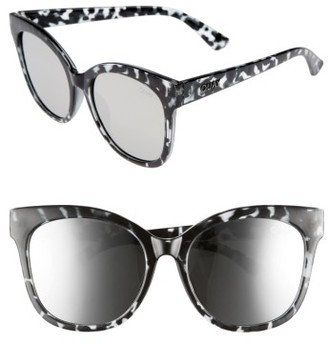 Women's Quay Australia It's My Way 55Mm Sunglasses - Black Tort/ Silver $55 thestylecure.com